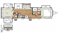 2019 Sierra Destination 404QBWD Floor Plan