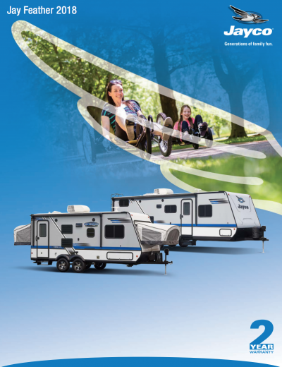 2018 Jayco Jay Feather RV Brochure Cover