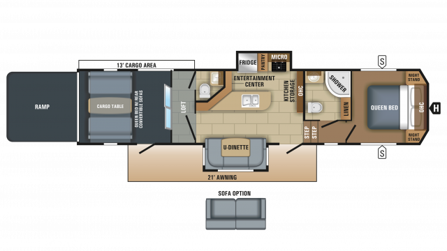 2018 Talon 413T Floor Plan