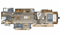 2019 Eagle 325BHQS Floor Plan