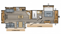 2019 Eagle 338RETS Floor Plan