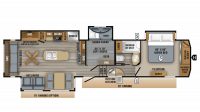 2019 Eagle 355MBQS Floor Plan
