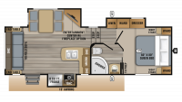 2019 Eagle HT 24.5CKTS Floor Plan