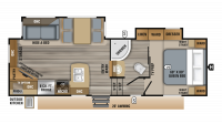 2019 Eagle HT 25.5REOK Floor Plan