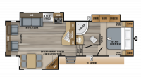 2019 Eagle HT 26.5RLDS Floor Plan