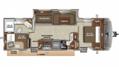 2019 Eagle HT 284BHOK Floor Plan Img
