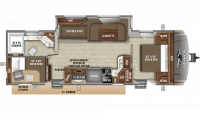 2019 Eagle HT 284BHOK Floor Plan