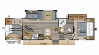 2019 Eagle HT 29.5FBDS Floor Plan