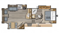 2019 Eagle HTX 27SGX Floor Plan