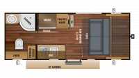2019 Hummingbird 16MRB Floor Plan