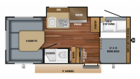 2019 Hummingbird 17BH Floor Plan