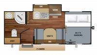 2019 Hummingbird 17RB Floor Plan