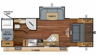 2019 Jay Feather 24BHM Floor Plan