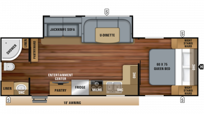 2019 Jay Feather 25RB Floor Plan Img
