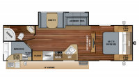 2019 Jay Feather 27BH Floor Plan