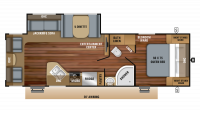 2019 Jay Feather 27RL Floor Plan