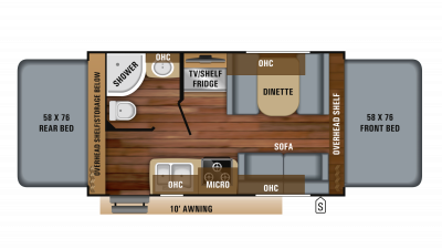 2019 Jay Feather X17Z Floor Plan Img