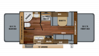 2019 Jay Feather X17Z Floor Plan