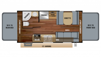 2019 Jay Feather X19H Floor Plan Img