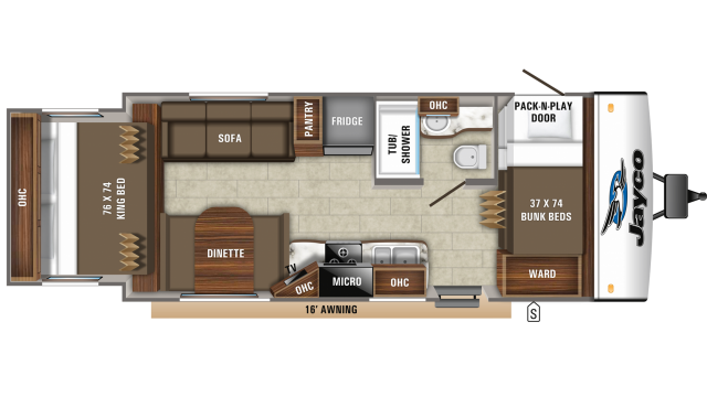 2019 Jay Feather X213 Floor Plan