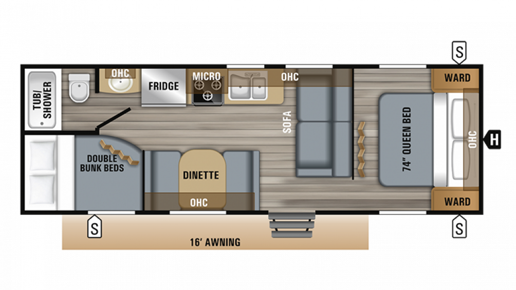 2019 Jay Flight 26BH Floor Plan Img