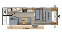 2019 Jay Flight 26BH Floor Plan