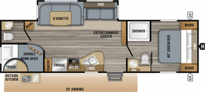 2019 Jay Flight 29BHDB Floor Plan Img
