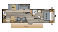 2019 Jay Flight 29RKS Floor Plan