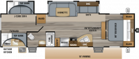2019 Jay Flight 32BHDS Floor Plan