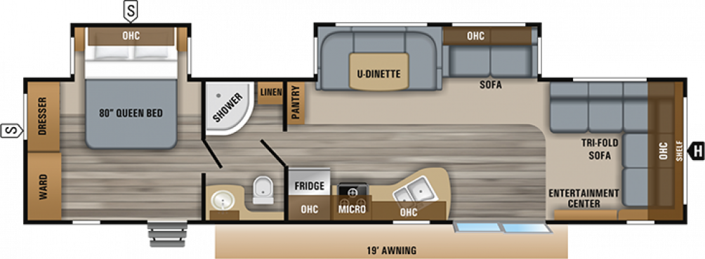 2019 Jay Flight 38FDDS Floor Plan Img
