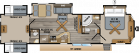 2019 Jay Flight Bungalow 40BHQS Floor Plan