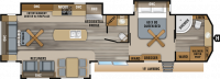 2019 Jay Flight Bungalow 40FBTS Floor Plan