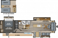 2019 Jay Flight Bungalow 40LOFT Floor Plan