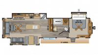 2019 Jay Flight Bungalow 40RLTS Floor Plan