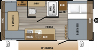 2019 Jay Flight SLX 175RD Floor Plan