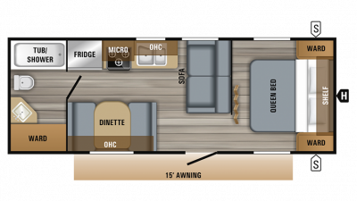 2019 Jay Flight SLX 232RB Floor Plan Img