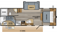 2019 Jay Flight SLX 242BHS Floor Plan