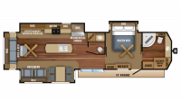2018 Jay Flight Bungalow 40FBTS Floor Plan