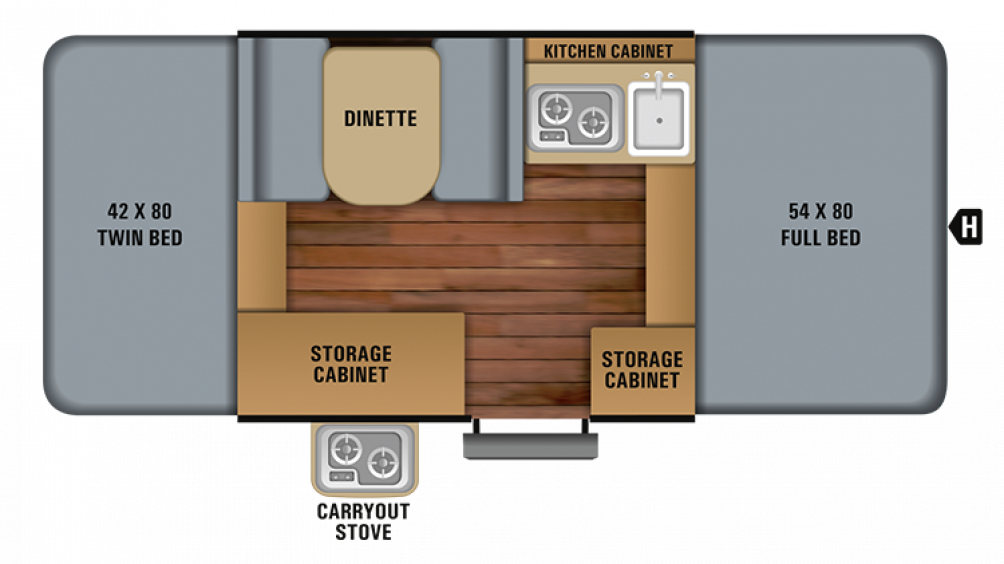 2019 Jay Sport 8SD Floor Plan Img