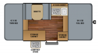 2019 Jay Sport 8SD Floor Plan