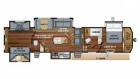 2019 North Point 375BHFS Floor Plan
