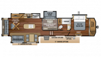 2019 North Point 377RLBH Floor Plan