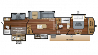 2019 North Point 379DBFS Floor Plan