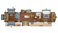 2019 North Point 387RDFS Floor Plan