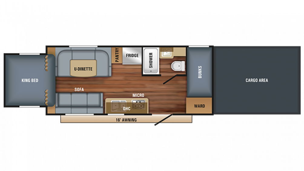 2018 Octane Super Lite 210 Floor Plan Img