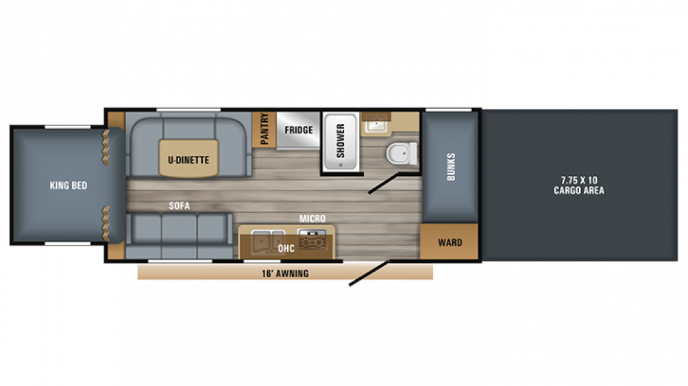2019 Octane Super Lite 210 Floor Plan Img