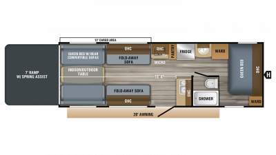 2019 Octane Super Lite 265 Floor Plan Img