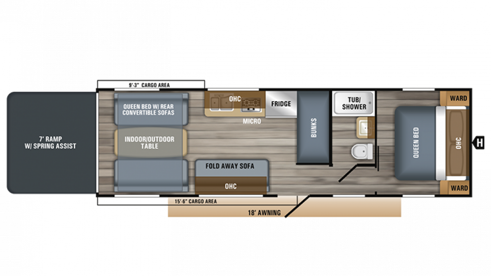 2019 Octane Super Lite 272 Floor Plan Img