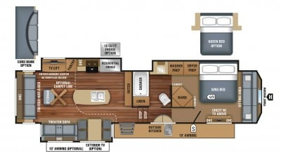2018 Pinnacle 37RLWS Floor Plan
