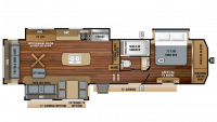 2019 Pinnacle 36KPTS Floor Plan